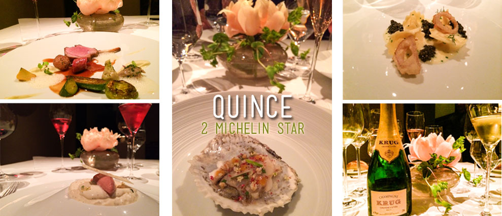 8 Course meal at Quince/ 2 Michelin star restaurant in San Francisco