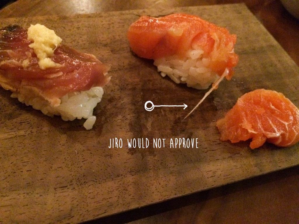 Stringy sushi