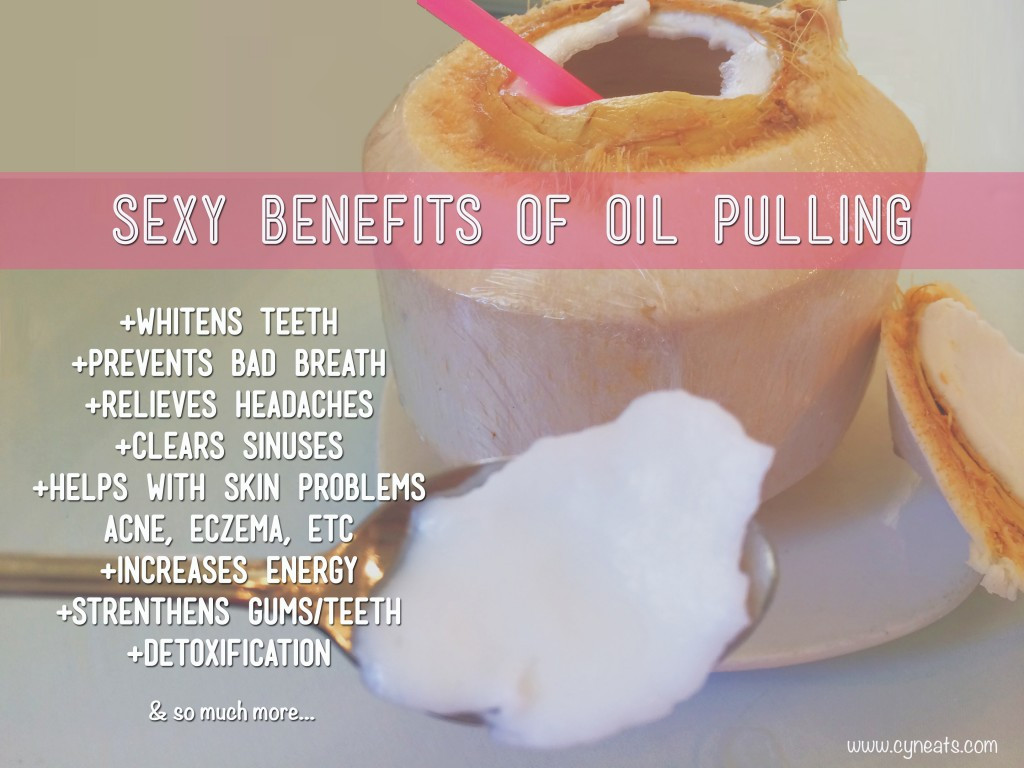 sexy benefits of oil pulling