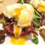 Absinthe Brasserie. THINK: Eggs benedict, but instead of Eng muffin, it's on a crispy hash brown with duck confit!