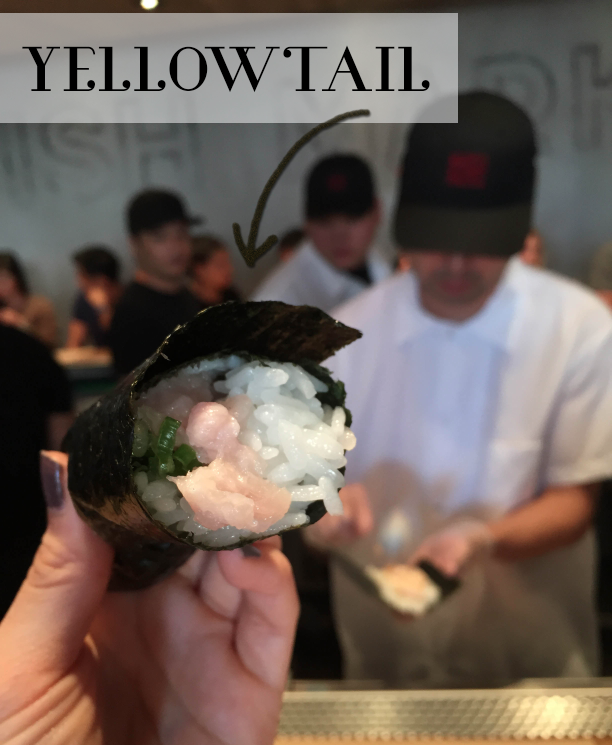 Yellowtail hand roll
