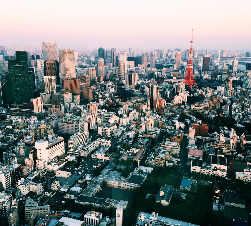 "This view from Mori Tower in Roppongi is seriously breath taking. I bought some desserts to take food shots up there. You shoulda seen my expression when they said ""camera ONLY."" I wanted to cry."