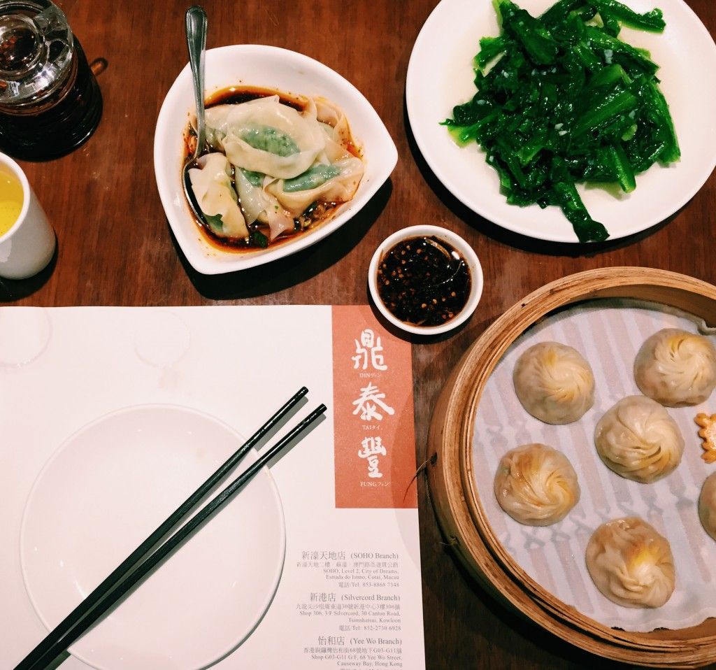 Din Tai Fung has the BEST dumplings ever. Most of their restaurants have 1 Michelin star for DUMPLINGS. That's when you know is has to be good.