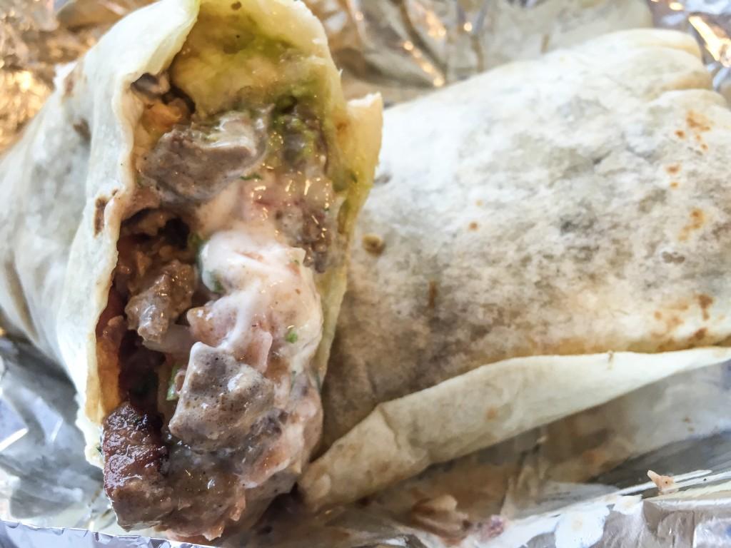 Burrito from La Taqueria